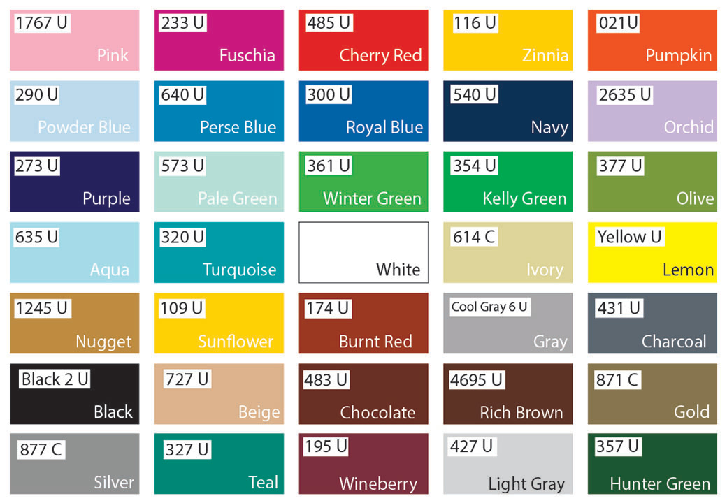 Stock Paint Colors