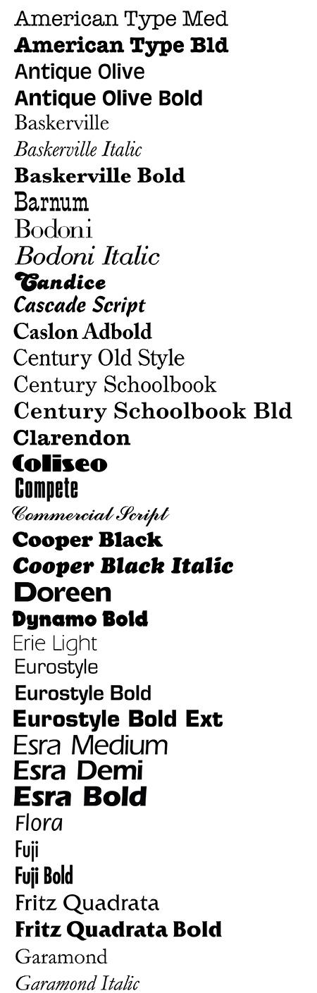 Stock Letter Styles