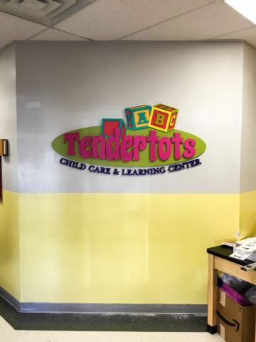 Layers of painted PVC and PVC letters