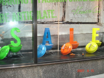 Free standing foam letters with painted grills to match