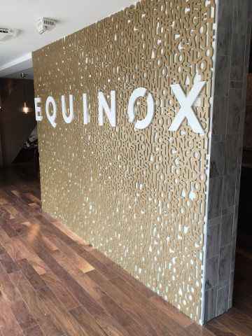 Letter wall, supplied in panels for easy installation