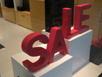 "Free standing 2"" thick foam letters"