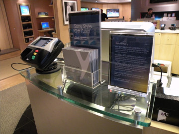 Clear cash wrap counter literature holder