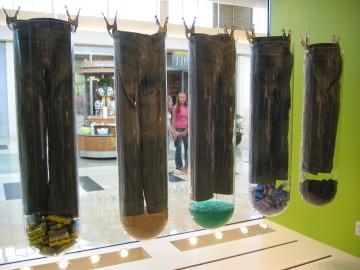 Custom hanging test tubes