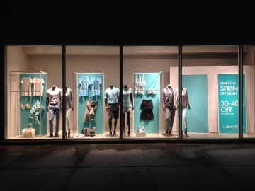 Fabricated aluminum window displays and frames
