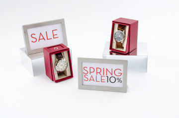 Thin aluminum risers and changeable sign holders