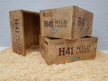 Custom wood display crates
