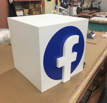 Fabricated PVC display cube