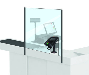 All Point of Sale partitions are custom made to fit your needs