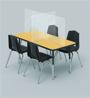 Desk partitions ship flat and assemble easily onsite – all sizes welcomed